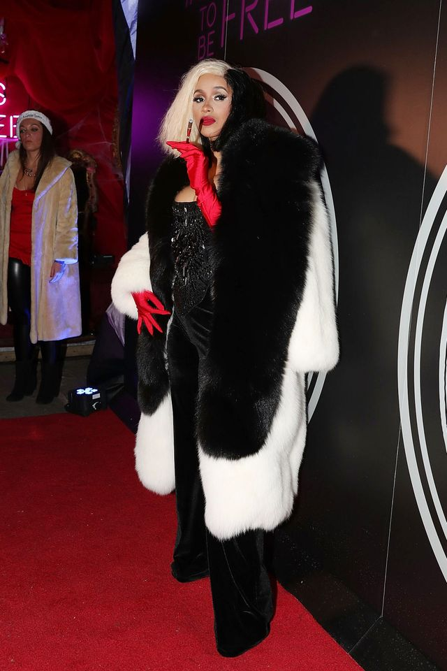 Cardi B Cruella de Vil Halloween costume