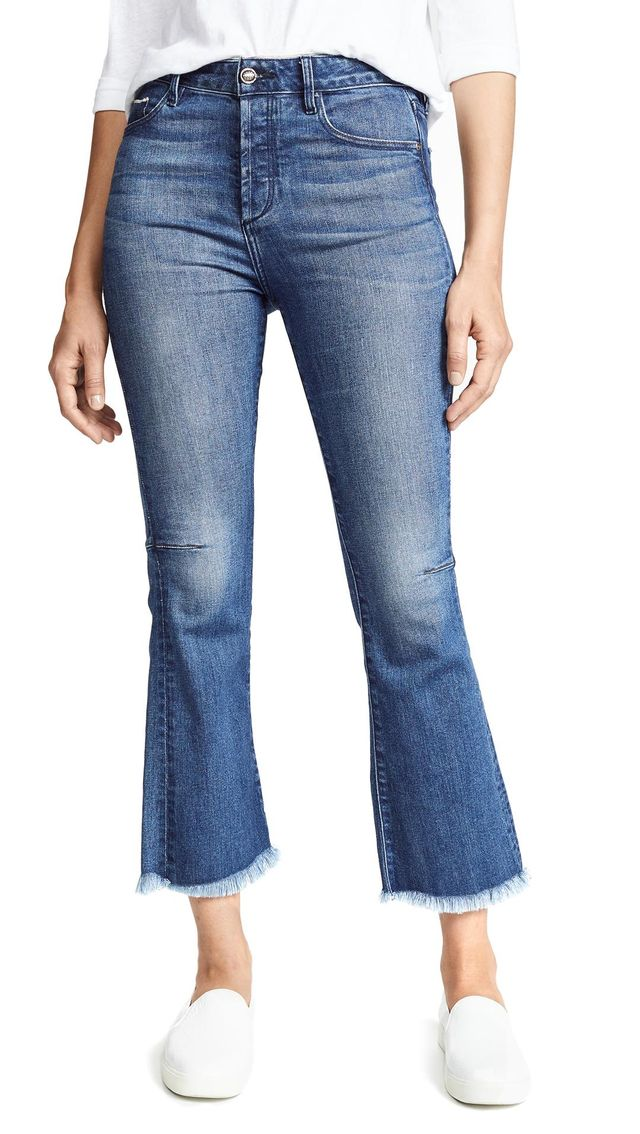Bellatula Highrise Cropped Flare Jeans