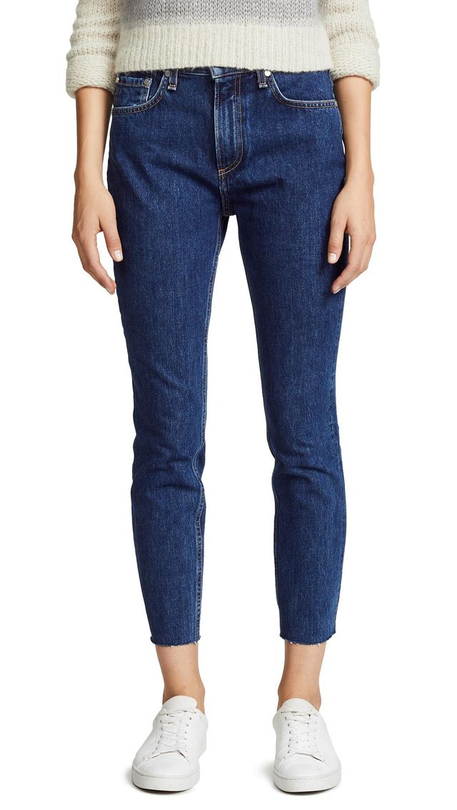 High Rise Rigid Ankle Skinny Jeans