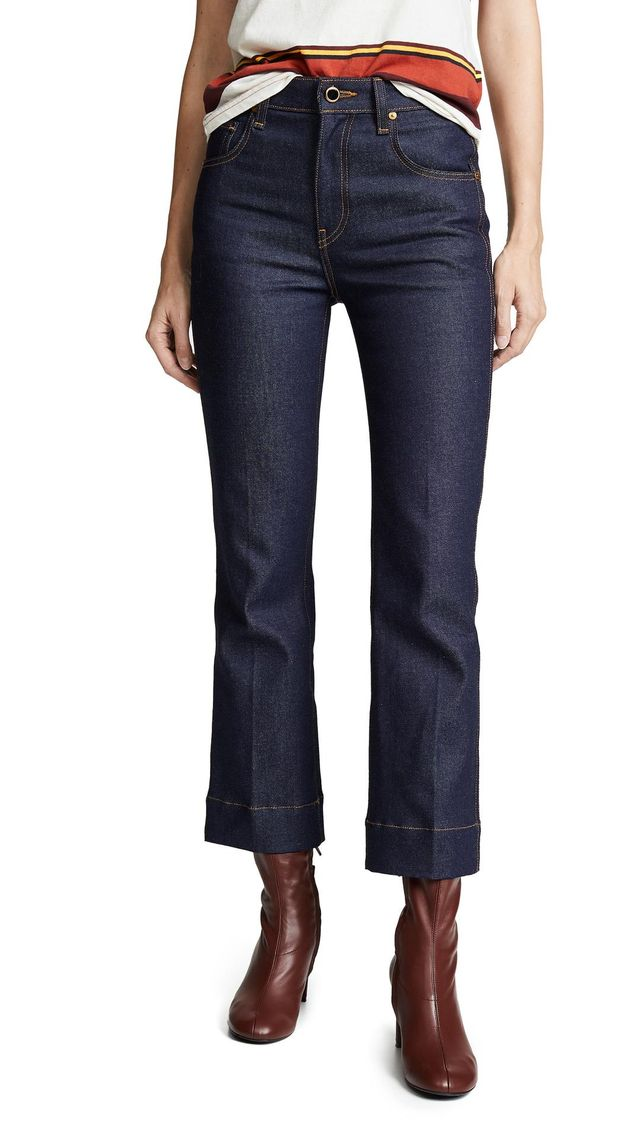 Fiona Cropped Flare Jeans