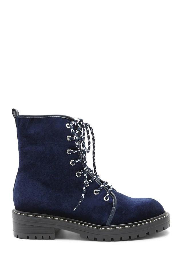 Velvet Combat Boots