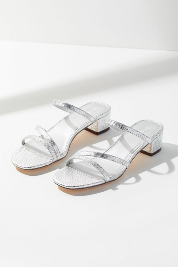 Urban Outfitters UO Claudia Metallic Strappy Heels