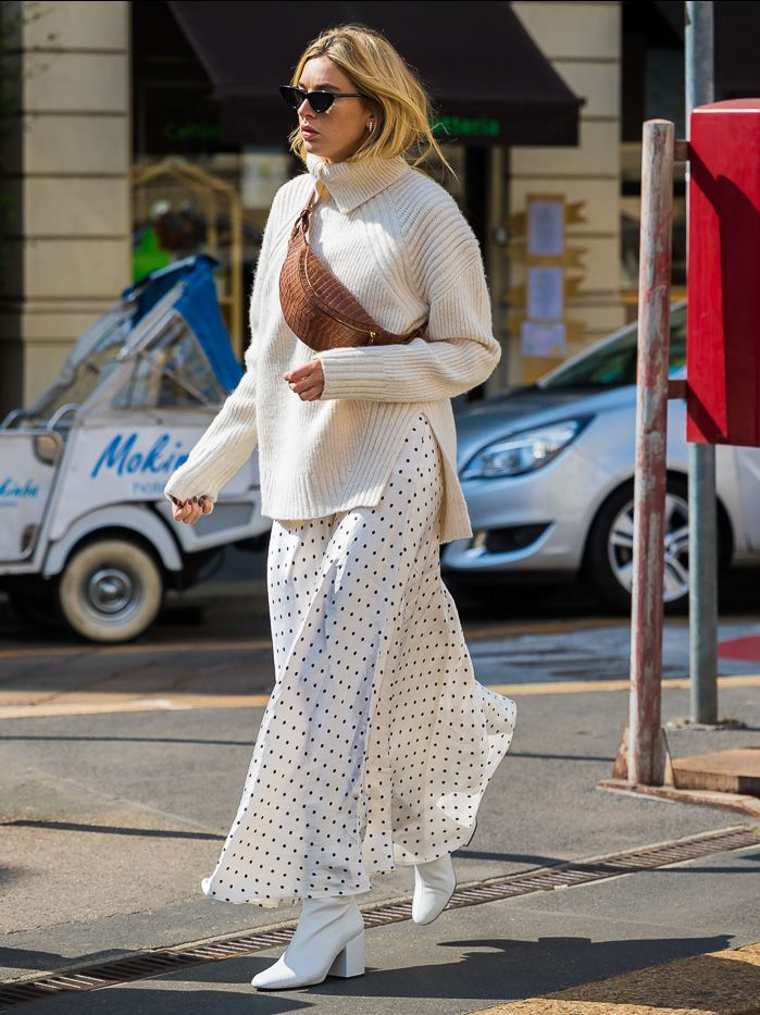 a5896aa5ce0 Pinterest. Photo  Style du Monde. Nothing says winter white like a knit  sweater ...