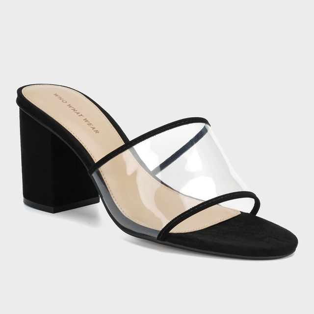 Who What Wear Danielle Vinyl Heeled Mules