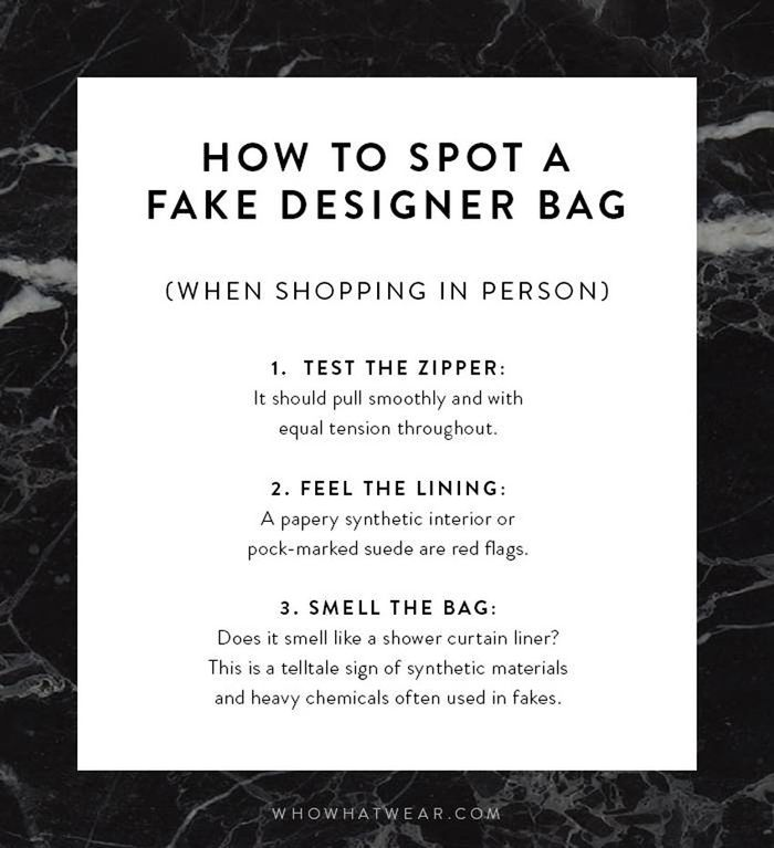 how to tell if a bag is fake