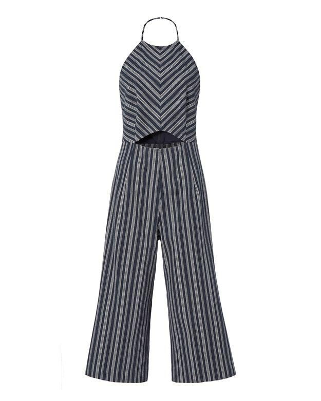 cac91f253697 Pinterest · Shop · Exclusive for Intermix Elena Striped Cropped Jumpsuit ...