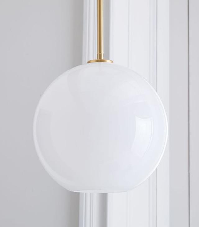 West Elm Sculptural Glass Globe Pendant