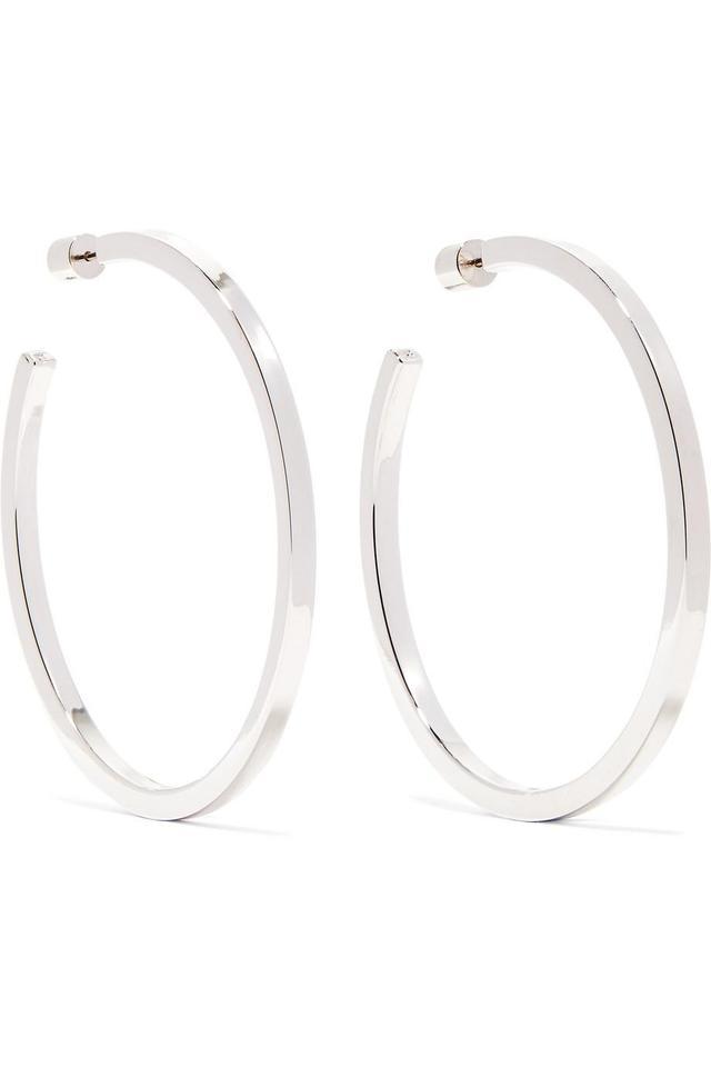 """Jennifer Fisher Shane 2"""" Silver-plated Hoop Earrings"""