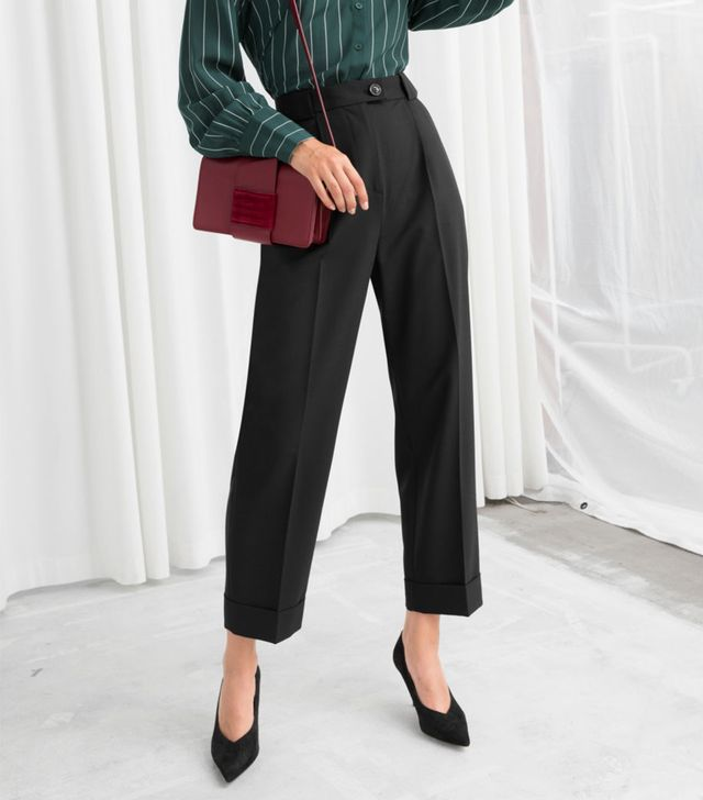 & Other Stories High Waisted Wool Blend Pants