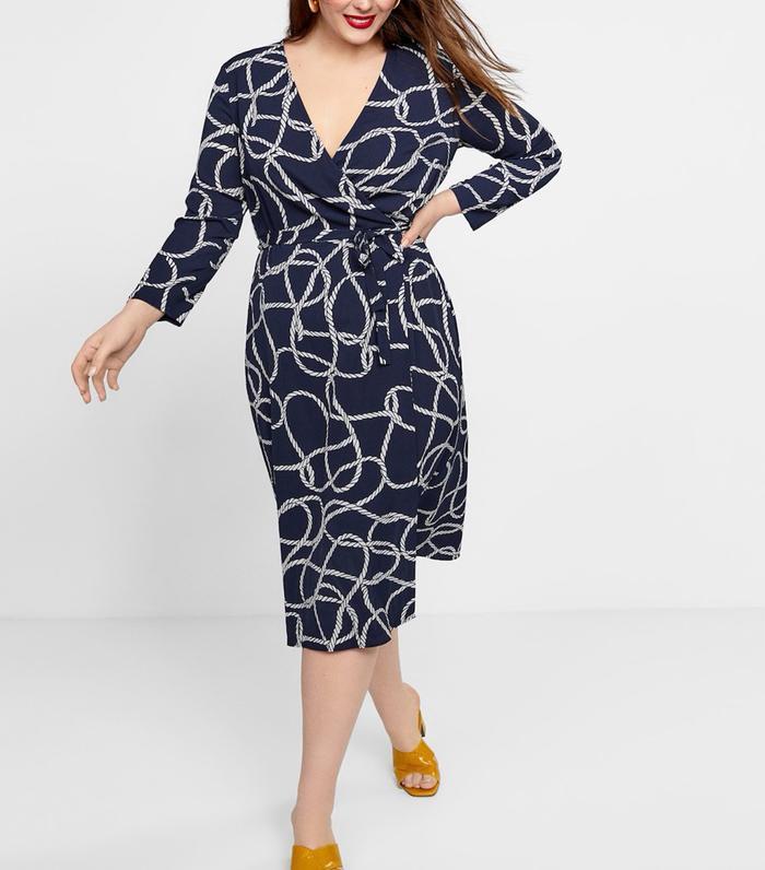 852dcd9d034 Pinterest · Shop · Violeta Knotted Wrap Dress ...