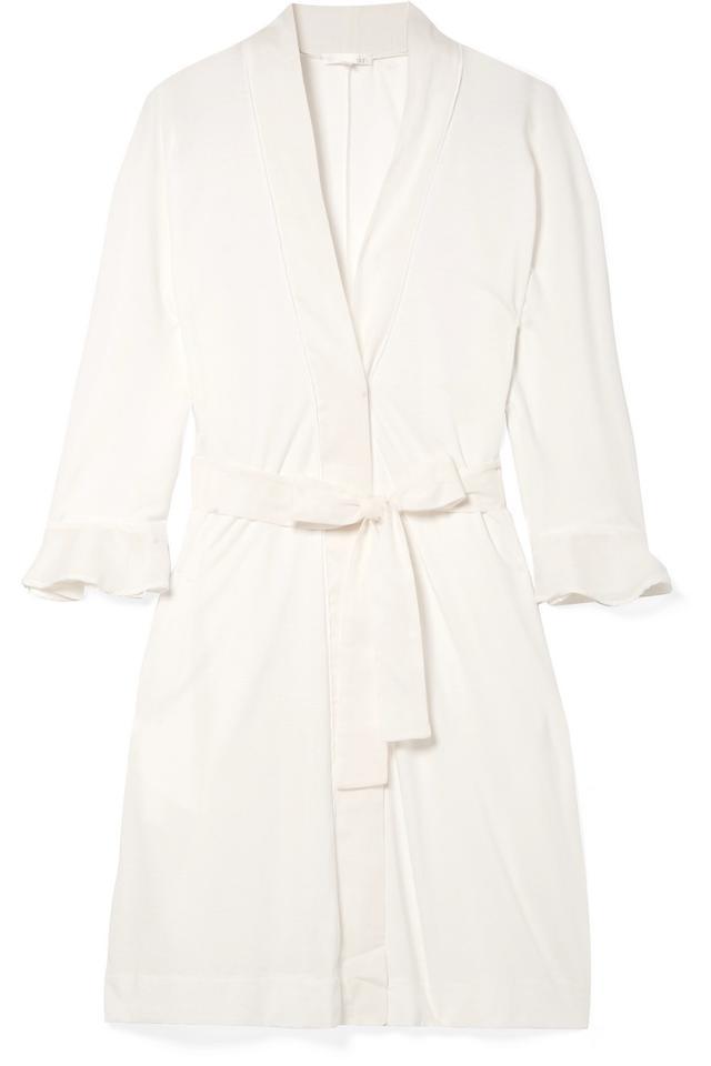 Blake Voile-trimmed Pima Cotton Robe