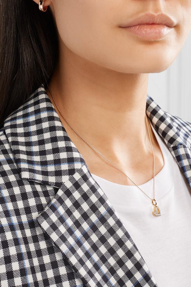 Alphabet Heart Gold Vermeil Diamond Pendant