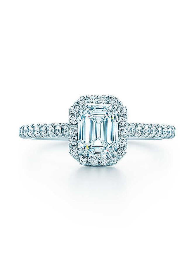 Tiffany & Co. Soleste Emerald Cut Engagement Ring