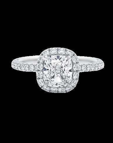 Harry Winston The One, Cushion-Cut Diamond Micropavé Engagement Ring