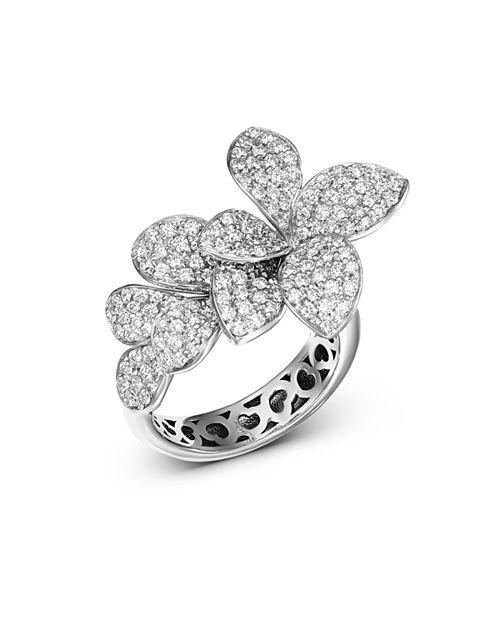 18K White Gold Stelle in Fiore Diamond Ring