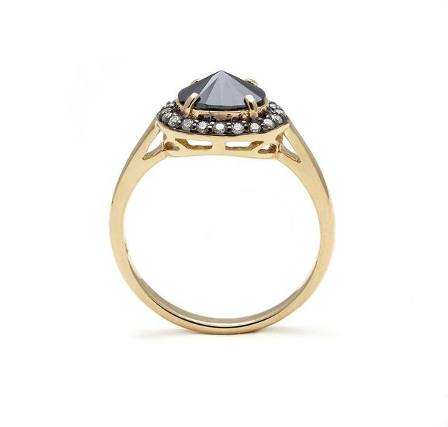 Anna Sheffield Yellow Gold & Black Diamond Ring