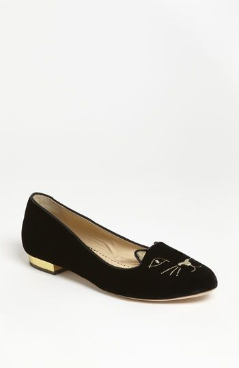 Charlotte Olympia  Cat Face Slippers