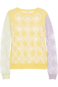 Carven  Cotton and Cashmere-Blend Sweater