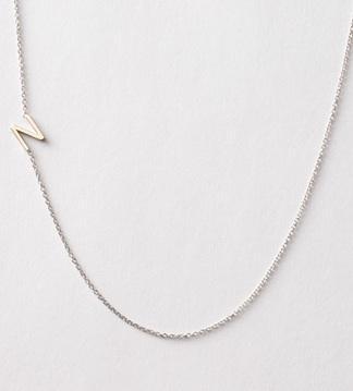 Maya Brenner Designs  Asymmetrical Mini Letter Necklace