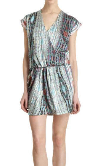 Marissa Webb Dionne Geo Wrap Dress