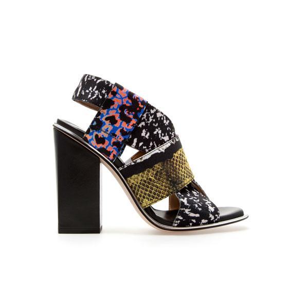 Zara  Stretch Combination Print Sandals