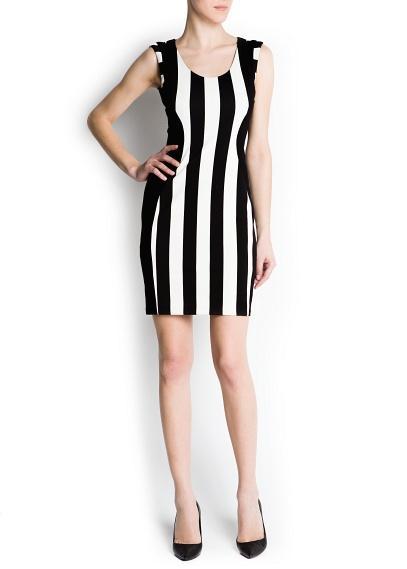 Mango Vertical Stripe Dress