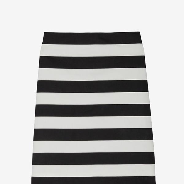Robert Rodriguez  Striped Pencil Skirt