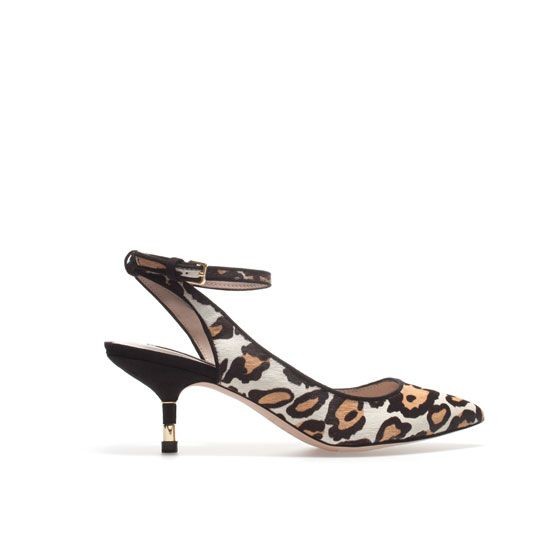 Zara Leopard Slingback