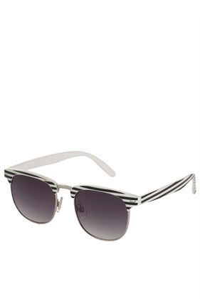 Topshop  Mono Stripe Brow Sunglasses