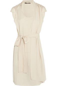 Halston Heritage  Asymmetric Draped Crepe Dress