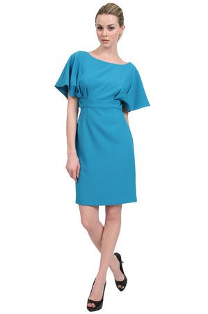 Kay Unger New York  Crepe Texture Batwing Sleeve