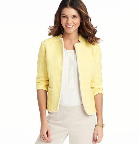 LOFT  ¾ Sleeve Tweed Jacket