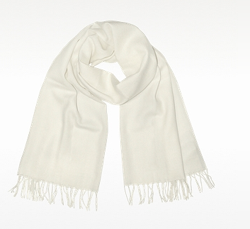 Enrico Coveri Fringe Solid Wool And Cashmere Pashmina