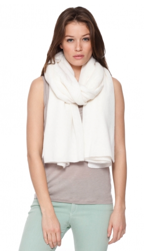 White and Warren Cashmere Travel Wrap