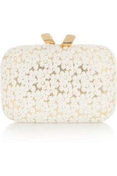 Kotur Margo Floral-Lae Box Clutch