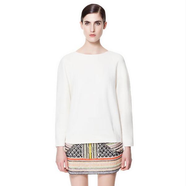 Zara Beaded Mini Skirt