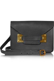 Sophie Hulme   Envelope Mini Textured-Leather Shoulder Bag