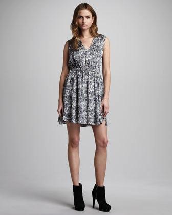 Theyskens' Theory  Abstract-Print Sheath Dress