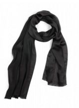 Echo Echo Solid Oversized Silk Scarf