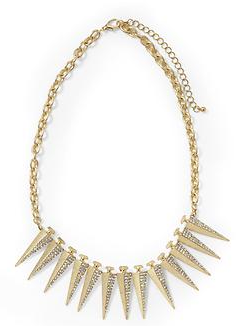 Hive & Honey Pave Spike Necklace