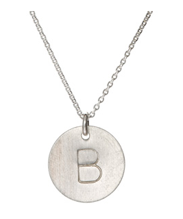 Nashelle Silver Initial Necklace