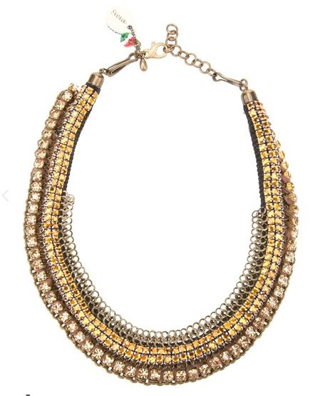 Sveva Collection  Beaded Crystal Collar