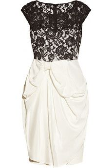 Notte by Marchessa  Silk-Jersey and Lace Dress