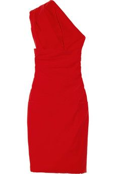 Preen  Ted Draped Stretch-Crepe Dress