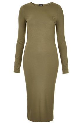 Topshop  Plain Midi Bodycon Dress