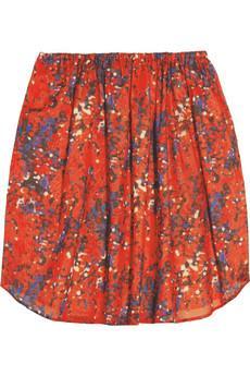Carven Printed Cotton-Voile Mini Skirt