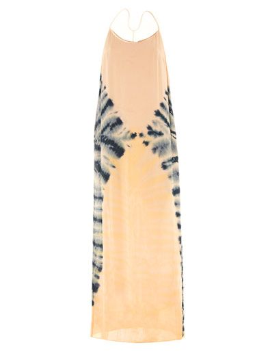 Raquel Allegra  Tie-Dye Silk Maxi Dress