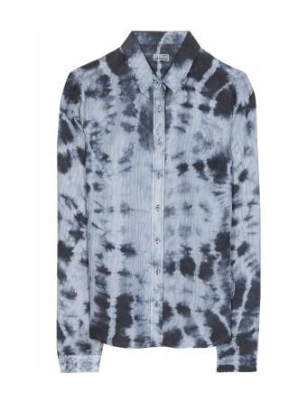 Closed  Tie-Dye Silk Button-Down Shirt