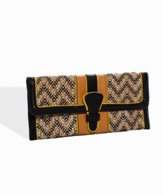 The Limited  The Limited Straw-Weave Tab Clutch