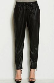 Armani Exchange Armani Exchange Faux Leather Jogger Pants